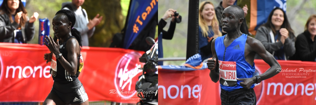 London Marathon Winners 2017 Daniel Wanjiru Mary Keitany male female winners.jpg