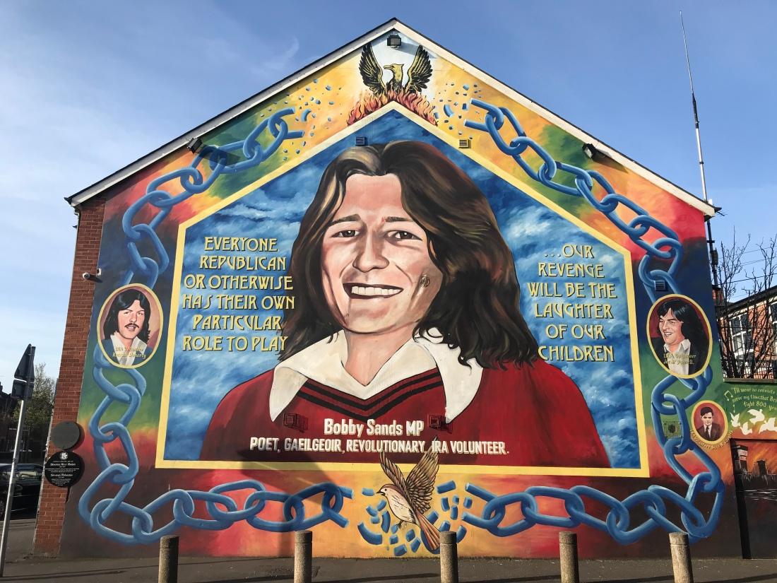 Bobby Sands Mural, Belfast 2019